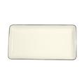Pickard China Signature Ivory China Body Platinum With No Monogram Pattern Large Sushi Tray