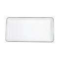 Pickard China Signature White China Body Platinum With No Monogram Large Sushi Tray
