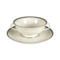Pickard China Signature Ivory China Body Platinum With No Monogram Pattern Cream Soup & Liner