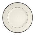 Pickard China Signature Ivory China Body Platinum With No Monogram Pattern Dinner Plate