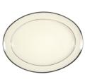 Pickard China Signature Ivory China Body Platinum With No Monogram Pattern Oval Platter