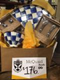Parkleigh Exclusives MacKenzie-Childs Royal Check and Blueberry Bundle