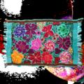 Fresco Fabrics  Aqua Floral Placemat