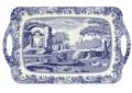 Pimpernel Blue Italian Large Melamine Handled Tray