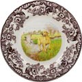 Spode Woodland Hunting Dogs Collection Dinner Plate 10.5 inch (Yellow Labrador Retriever)