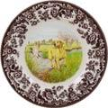 Spode Woodland Hunting Dogs Collection Yellow Labrador Retriever Salad Plate
