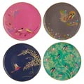 Portmeirion Sara Miller London Chelsea Collection Plates 8 Inch - Set of 4 Assorted