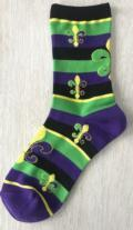 Pieces of Eight Exclusives Mardi Gras Womens Socks