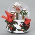 34.95 Snow Scene-Birdhouse/Cardinal