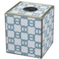 128 Blue Chain Tissue Box