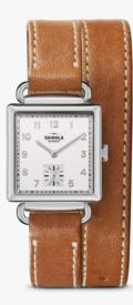 650 Cass 28x27mm White Dial / Bourbon Strap
