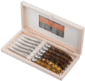 Laguiole Acrylic Steak Knives (Tortoise Shell) - 6pc