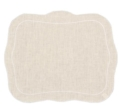 $88.00 Set of 4 Placemats Ivory with White Placemats