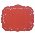 $88.00 Set of 4 Placemats Red with White Placemats