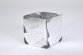 35 3 inch Cube Vase - Silver Slash