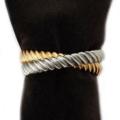 L'Objet Napkin Rings Deco Twist Platinum + Gold Napkin Rings (set of 4)