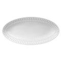L'Objet Perlee White  Perlee White Oval Platter - Small