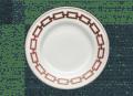 Richard Ginori 1735 Catene Scarlatto Dessert Plate- Set of 2