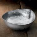 India Handicrafts Large Oval Hammered Serving Bowl