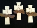 Plum Southern Exclusives Cross Wooden w initial