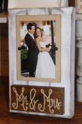 $40.00 Picture Frame 9 Mr. & Mrs. (holds 4x6)