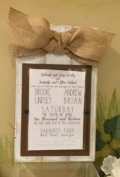 $40.00 Picture Frame Invitation (or holds 5x7 pic)