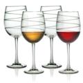 Susquehanna Glass Stemmed Wine Glass Spiral
