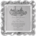 $219.00 Mariposa Pearled Wavy Square Platter with Wedding Invitation Scan