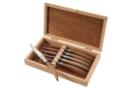 170 6 Laguiole knives brown elm handle