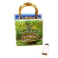 MONET BAG WITH BRIDGE AND WATER LILY INCLUDES REMOVABLE PAINT TUBE image