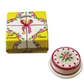 Rochard Limoges Special Occasions Cake Box W/Cake