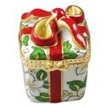 Rochard Limoges Christmas Christmas Gift Box W/Red Bow