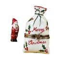 Rochard Limoges Christmas Christmas Bag With Santa