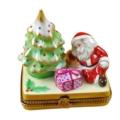 Rochard Limoges Christmas Christmas Tree W/Santa & Gifts