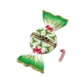 Rochard Limoges Christmas HOLLY CANDY WITH CANDY CANE