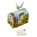 Rochard Limoges Garden MAILBOX WITH LANDSCAPE AND REMOVABLE LETTER