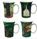 $0.00 Carr Set of 4 Mugs
