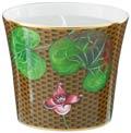 Raynaud Trésor Fleuri Marron Asarum Candle pot