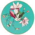 Raynaud Trésor Fleuri Turquoise Magnolia Coupe plate flat
