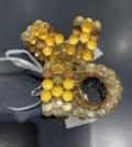 36 Festive Gold Ball Napkin Rings