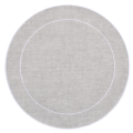 Skyros Designs Linho Simple Round Placemats  Dark Natural - Set of 4