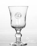 Skyros Designs Legado Glass  Footed Goblet - Hand Stamped Initial