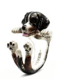 $360.00 ENAMEL HUG RING - BERNESE MOUNTAIN DOG