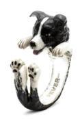 $260.00 ENAMEL HUG RING - BORDER COLLIE