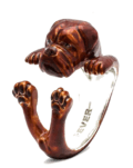 $360.00 ENAMEL HUG RING - DOGUE DE BORDEAUX