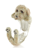 $360.00 ENAMEL HUG RING - GOLDEN LABRADOODLE