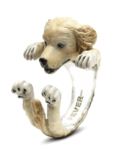 $260.00 ENAMEL HUG RING - LABRADOR RETRIEVER GOLDEN