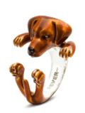 $360.00 ENAMEL HUG RING - RHODESIAN RIDGEBACK