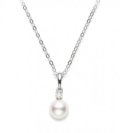$500.00 6-6.5mm Pearl Pendant with Diamond
