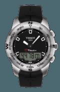 $425.00 T-Touch II Men's Quartz Black Dial Watch With Black Rubber Strap